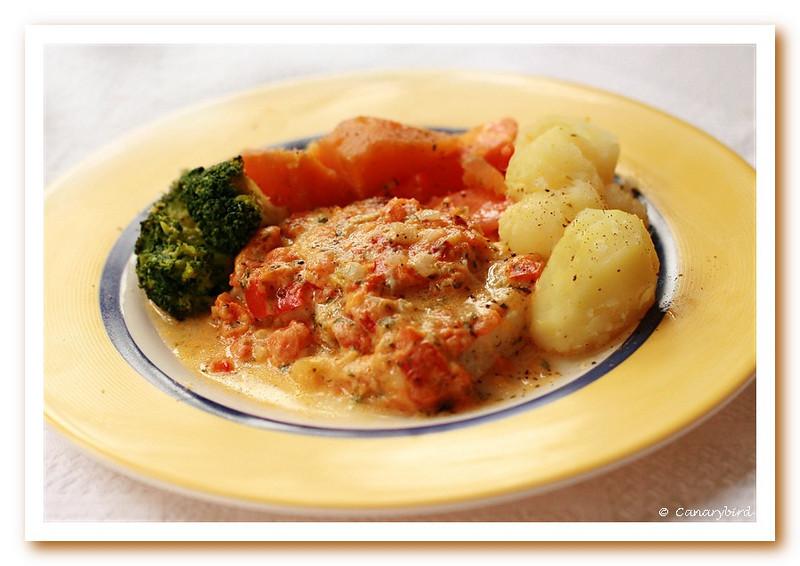 Fish & Italian Sauce