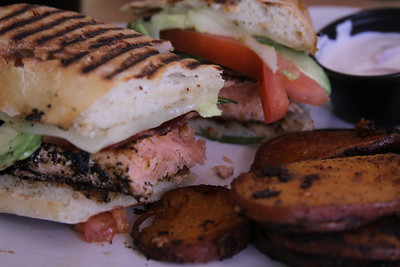 Salmon Avocado Panini