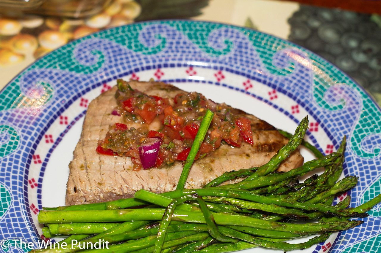 Tuna Steak with spicy salsa