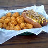 From FRANKIE'S DAWG HOUSE in Baton Rouge. The Chuck Norris with Tater Tots.