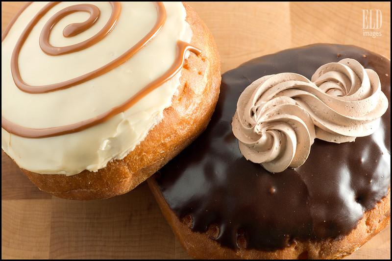 Caramel Macchiato & Malted Milk Bismarcks - Frost Doughnuts