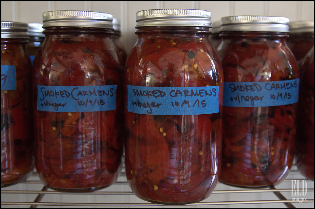 Smoked Carmen Peppers - Old Chaser Farm