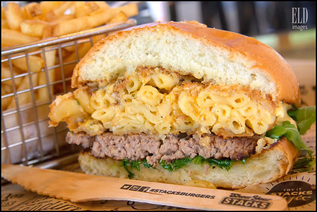 Mac & Cheese Burger - Stacks Burgers