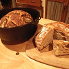 Artisan bread. Baked inside the dutch oven no less.