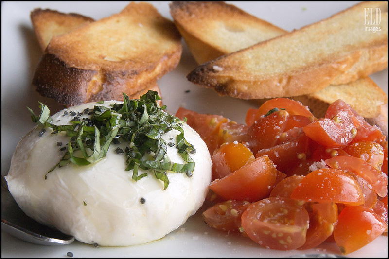 House-Made Burrata & Heirloom Tomatoes - Epulo Bistro