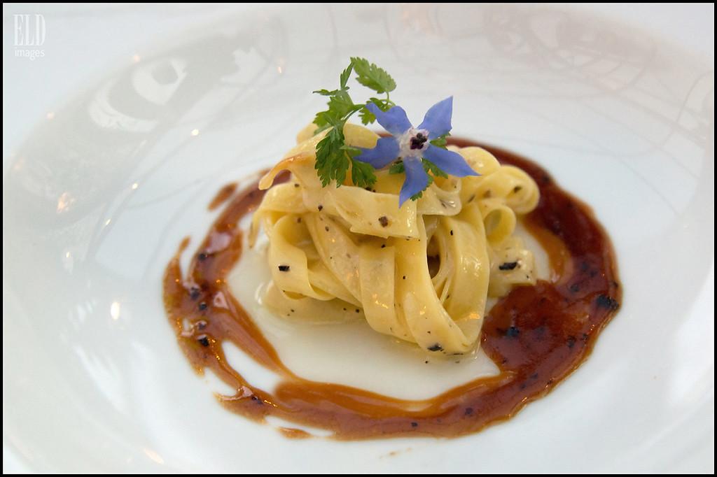 Tagliatelle - The Book Bindery<br /> Amuse bouche with foie gras