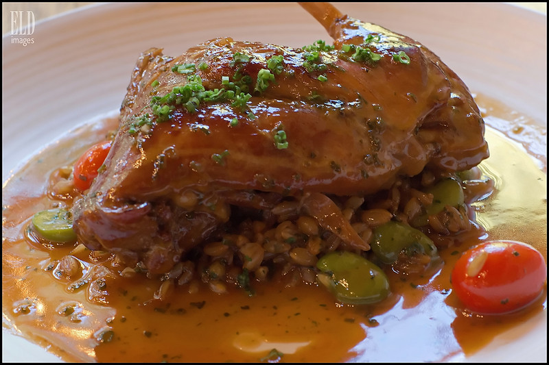 Rabbit Marsala - Agrodolce<br /> Slow cooked, with farro, fava bean and cherry tomato...