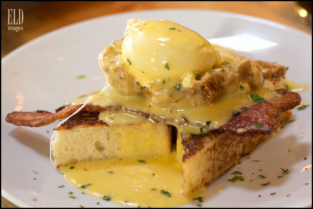 Bacon & Oyster Benedict - RockCreek Seafood & Spirits