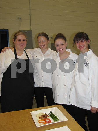 Students of ICCC Culinary Class from Gilbert High School LeAnn Sogard, Rebecca Rydl, Caitlyn Grebner, and Adi Rohrssen.
