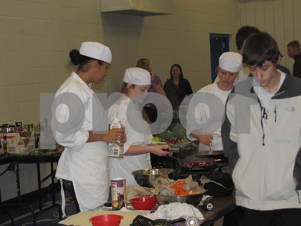 Fort Dodge Senior High students enrolled in the ICCC Culinary Arts class.