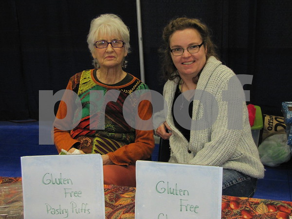Laurel Mors and Meg Beshey held a booth to explain and promote gluten free products.