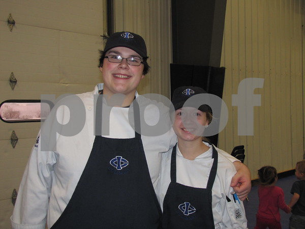 Students from Humboldt High School Tyler Busse and Caitlin Ackhart take the ICCC Culinary Arts class.