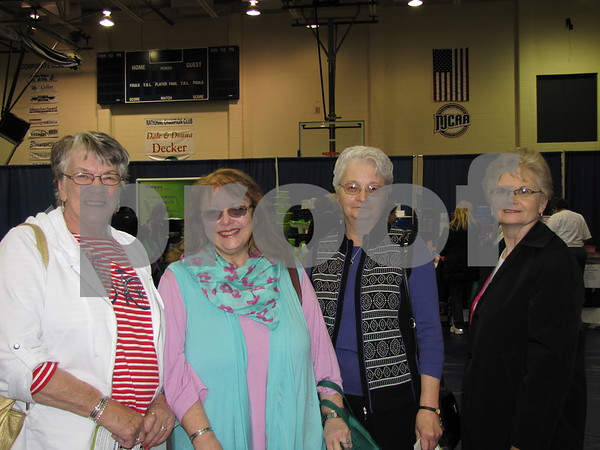 Marilyn Kroll, Pastor Susan Stone, Karen Scholten, and Barb Lynn attended the vendor show before the Taste of Home Cooking School.