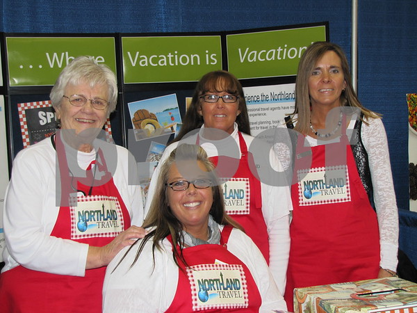 The ladies of Northland Travel were set up at the vendor show.