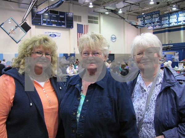 Diane Mosch, Donna Cooper, and Sondra Godsell.  Cooper was celebrating Mother's Day with her daughters at the Taste of Home Cooking School and vendor event.