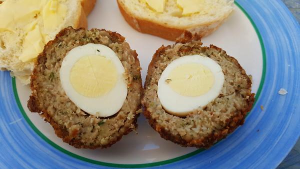 Garlic Scotch Egg