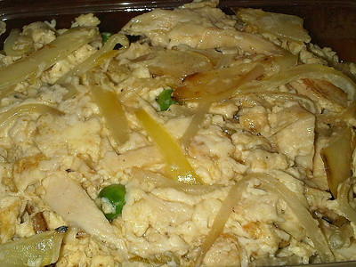 """Foo Yung with Chicken. Served in Dragonking"""" in Torquay"""