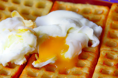 Poatched Eggs on Potato Waffles 31/12/11