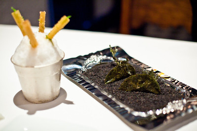 Nori seaweed with lemon