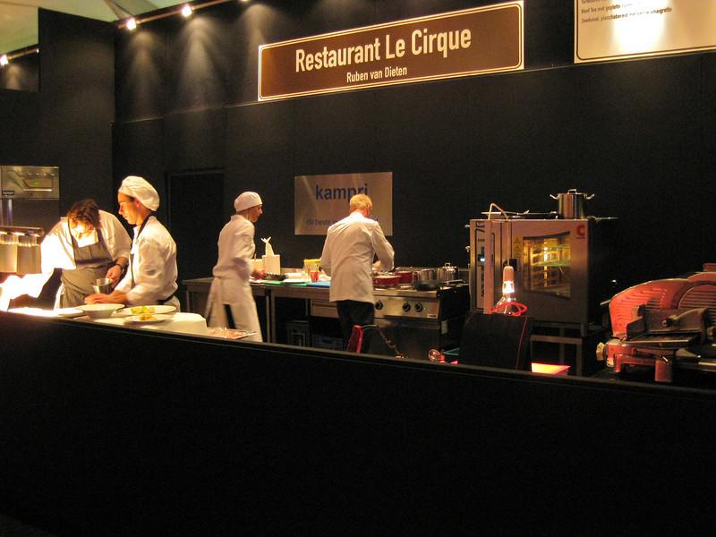 "Mobile kitchen for restaurant ""le Cirque"""