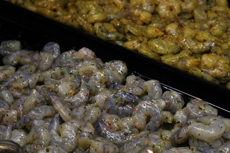 Marinaded prawns and shrimp