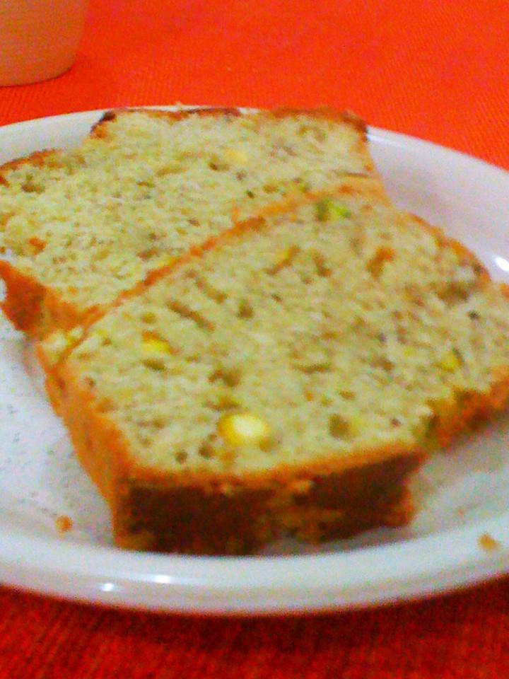 Banana Bread with Pistachios.