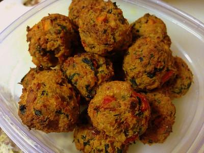 baked veggie meatballs.