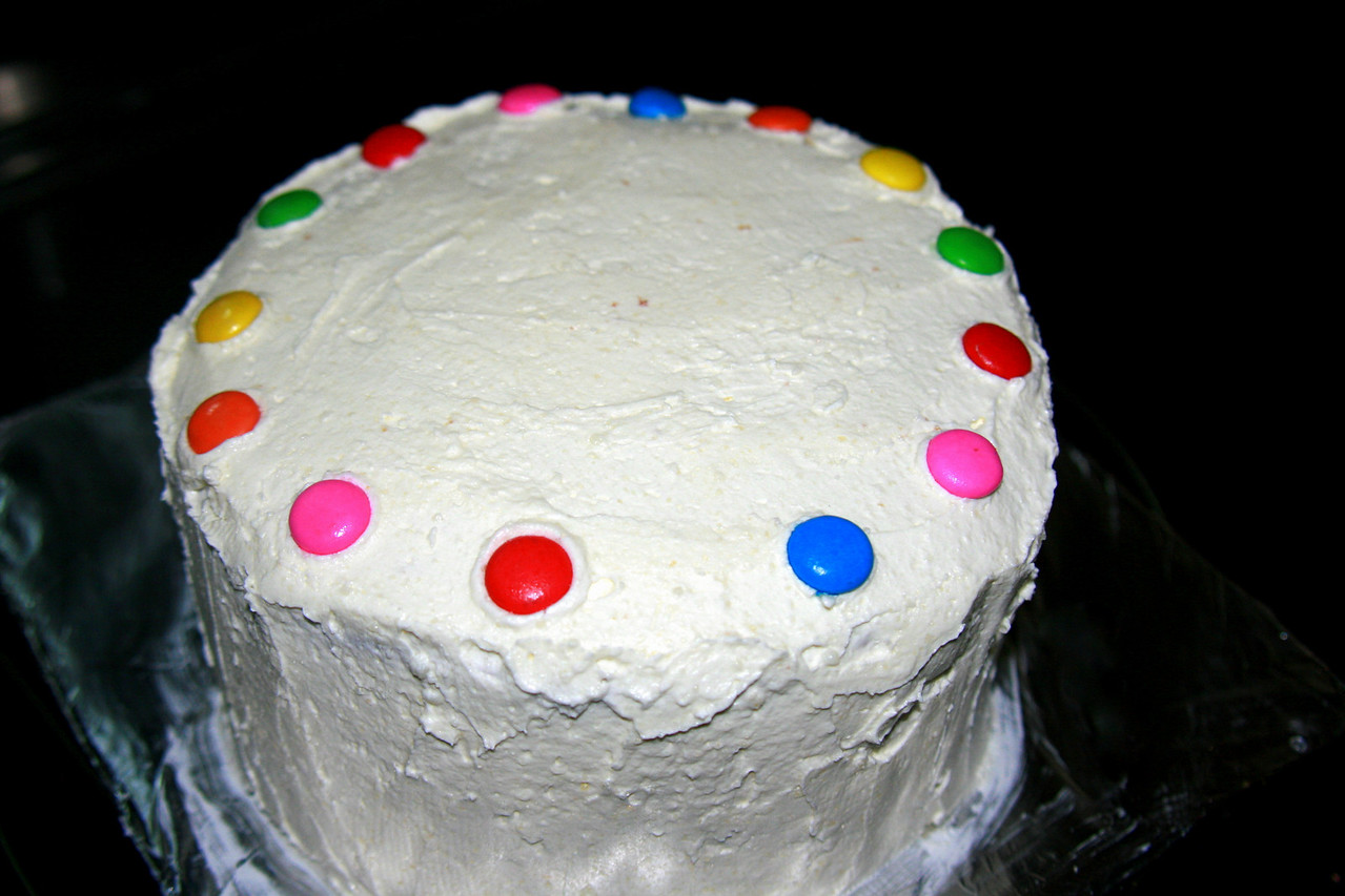 White Velvet Cake with fluffy white buttercream frosting.