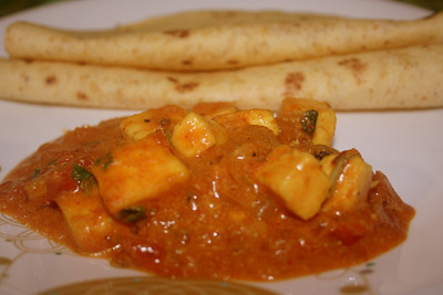 Paneer Butter Masala with rotis