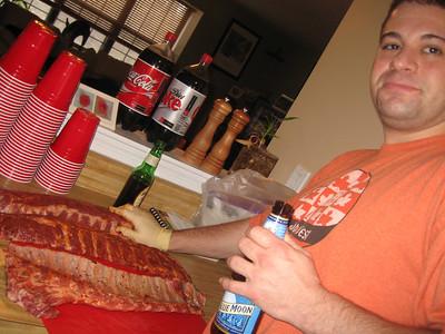 pete rubbing brad's meat