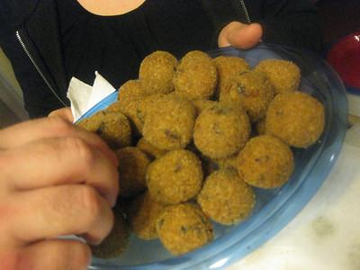 tony's porcini white truffle risotto rice balls