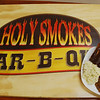 Holy Smokes BBQ in West Covina. Logo.