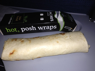 Meatball Wrap. Served on board Air Canada  22/01/13