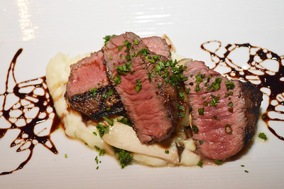 Grilled Masami Ranch Wagyu Top Sirloin - Goat Cheese Whipped Potato, Trumpet Mushrooms, Balsamic