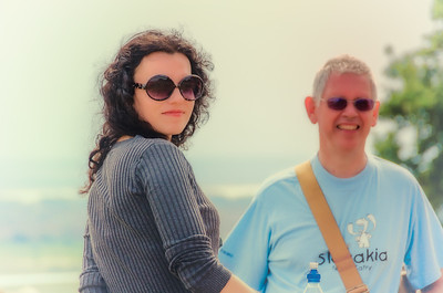 Sue and Alan at Hadleigh Castle