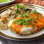 Coconut Red Curry Halibut with Rice