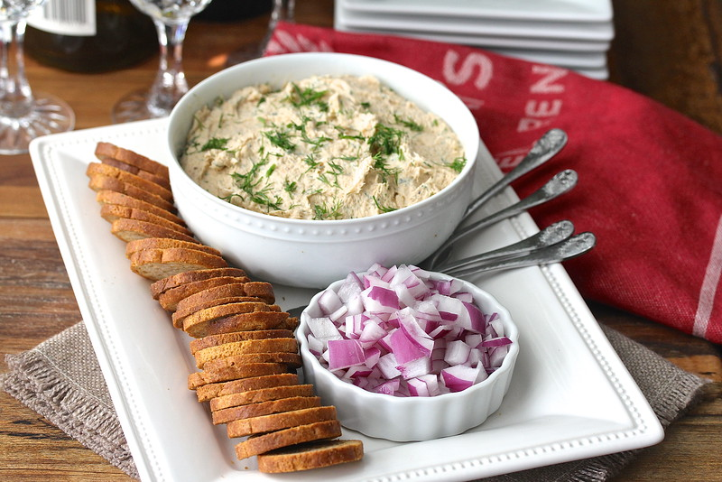 "This smoked salmon paté is one of my favorite ""go-to"" appetizers. It is easy to make, and wonderful spread on crackers, crostini, or bagels."