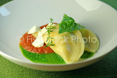 Spiney Lobster Ravioli Pesto