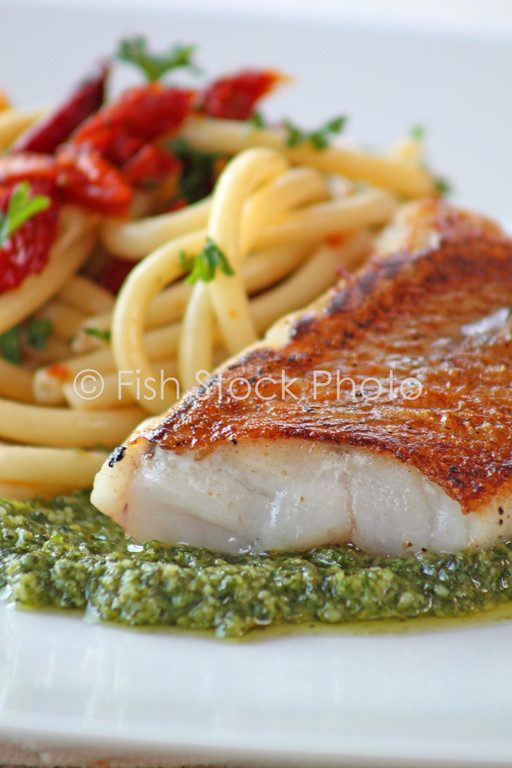 Vermillion Rockfish Pesto Pasta