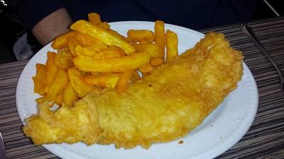 Large Haddock & Chips