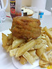 "Homemade Fishcake, from ""Silver Service"" chippy in Totnes<br /> <br /> 17/07/14"