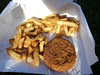 Fishcake & Chips. From Shaldon Chip Shop<br /> <br /> <br /> 03/07/14