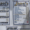 Menu at Janet's Chili Dogs food truck on Water Street in Fitchburg, run by owner Debby Tecsi of Fitchburg.  (SUN/Julia Malakie)