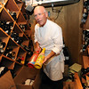 "Mark Monette shows off some rare bottle on wine, etc. in the Flagstaff House wine cellar.<br /> The Flagstaff House is celebrating 40-years.<br /> For more photos and a video of the restaurant, go to  <a href=""http://www.dailycamera.com"">http://www.dailycamera.com</a>.<br /> Cliff Grassmick / September 9, 2011"