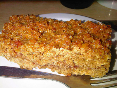 "Flapjack, served in ""Driftwood Cafe"" in Blue Anchor  15/06/12"