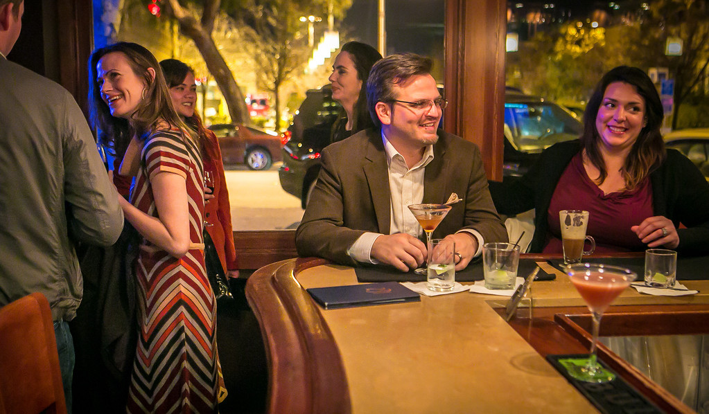 People enjoy happy hour at 231 Ellsworth restaurant in San Mateo, Calif. on Thursday, January 31st, 2013.