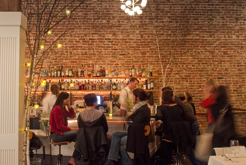 The bar at AQ Restaurant in San Francisco, Calif., is seen on Thursday, January 5th,  2012.