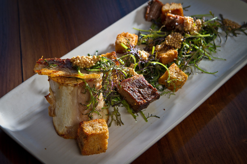 The beef Bone Marrow at Abbot's Cellar in San Francisco, Calif., is seen on Thursday, Sept. 27th, 2012.