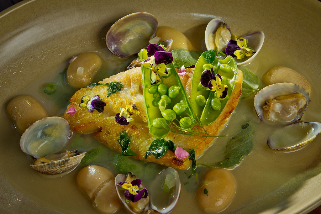 The Ling Cod with Manila Clams at Abbot's Cellar in San Francisco, Calif., is seen on Thursday, Sept. 27th, 2012.