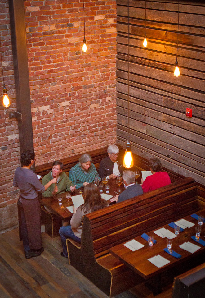 Diners enjoy dinner at Abbot's Cellar in San Francisco, Calif.,  on Thursday, Sept. 27th, 2012.